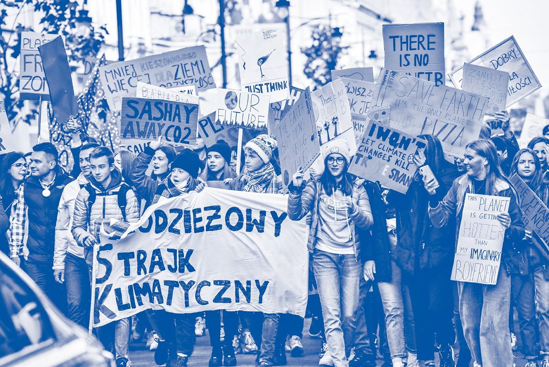 GLOBALSTREIK Am 20. September demonstrierten Millionen fürKlima,unter anderem in sechzig polnischen Städten – wie hier in Warschau