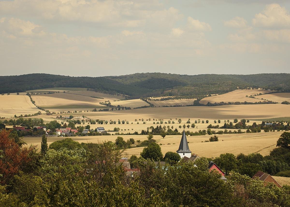 Blick auf die Hohe Schrecke in Thüringen