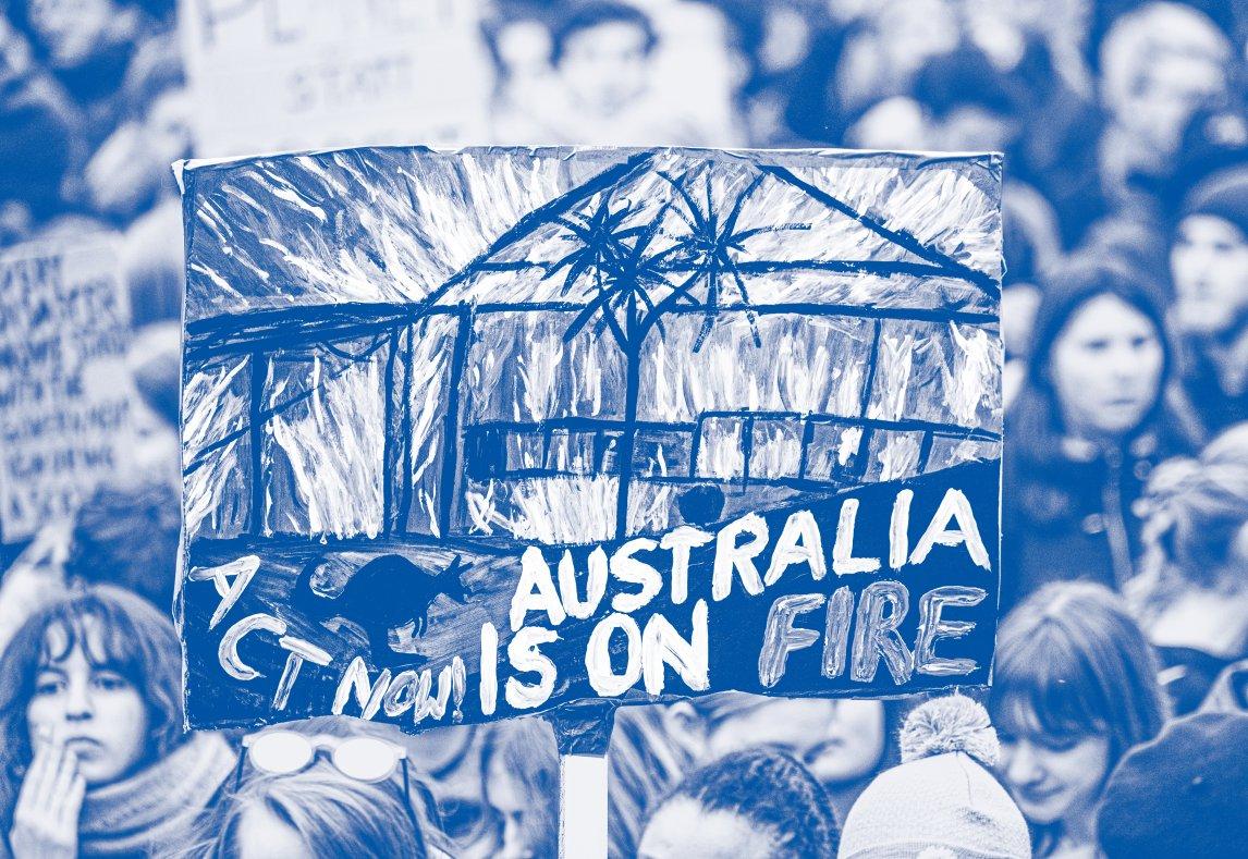 <p>FLAMMENDE WUT<br /> Nicht nur in Australien treiben die Buschbrände Menschen auf die Straße – sondern auch in Mainz</p>