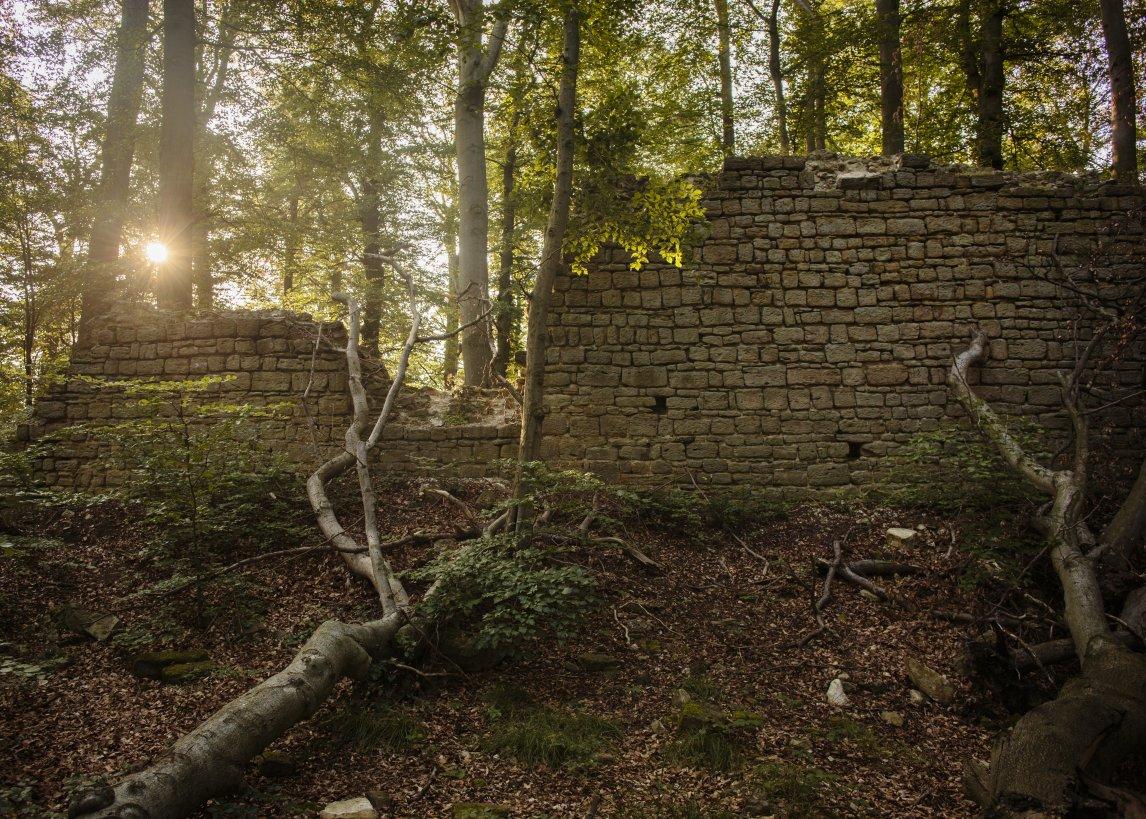 Überrest der 1350 zerstörten Rabensburg