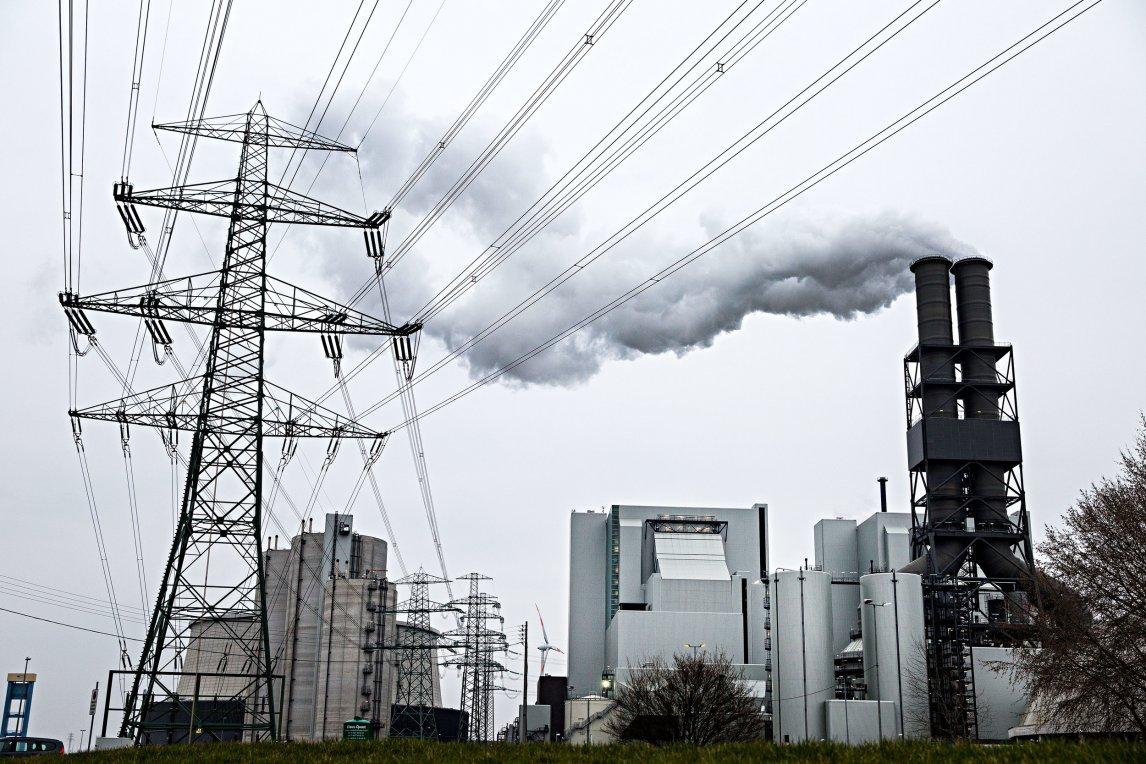 Kohlekraftwerk in Hamburg Moorburg