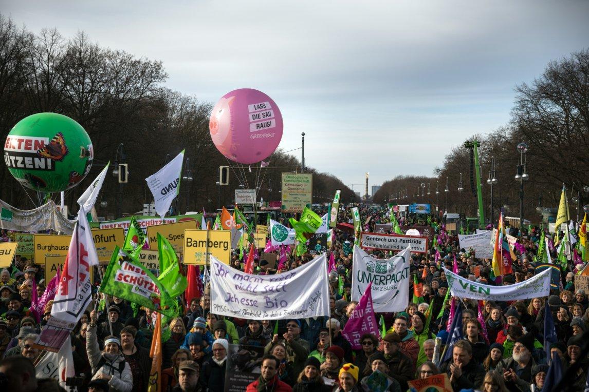Wir haben es satt Demonstration in Berlin - Januar 2020.