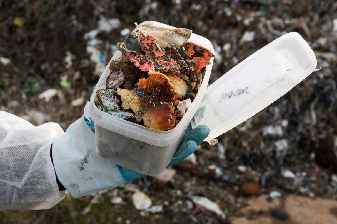 <p>ANGEKOHLT Probe von Müll, der offenbar gebrannt hat</p>