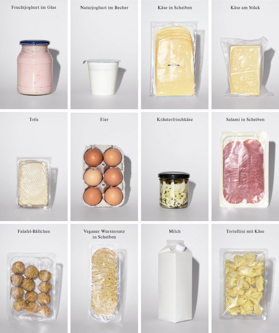 IM DUTZEND DURCHHALTEN Diese zwölf Lebensmittel in Bioqualität werden im Auftrag des Greenpeace Magazins auf ihre Haltbarkeit jenseits des Mindesthaltbarkeitsdatums getestet. Die Logos und sonstigen Beschriftungen haben wir entfernt, da die Hersteller in diesem Test keine Rolle spielen