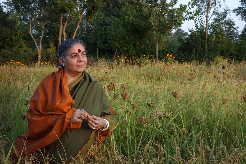 Die indische Physikerin und Umweltschützerin Vandana Shiva kämpft für die Vielfalt des Lebens und spricht sich dafür aus, dass Saatgut frei sein muss